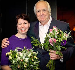 Andrea Flynn and Sir Tim Rice