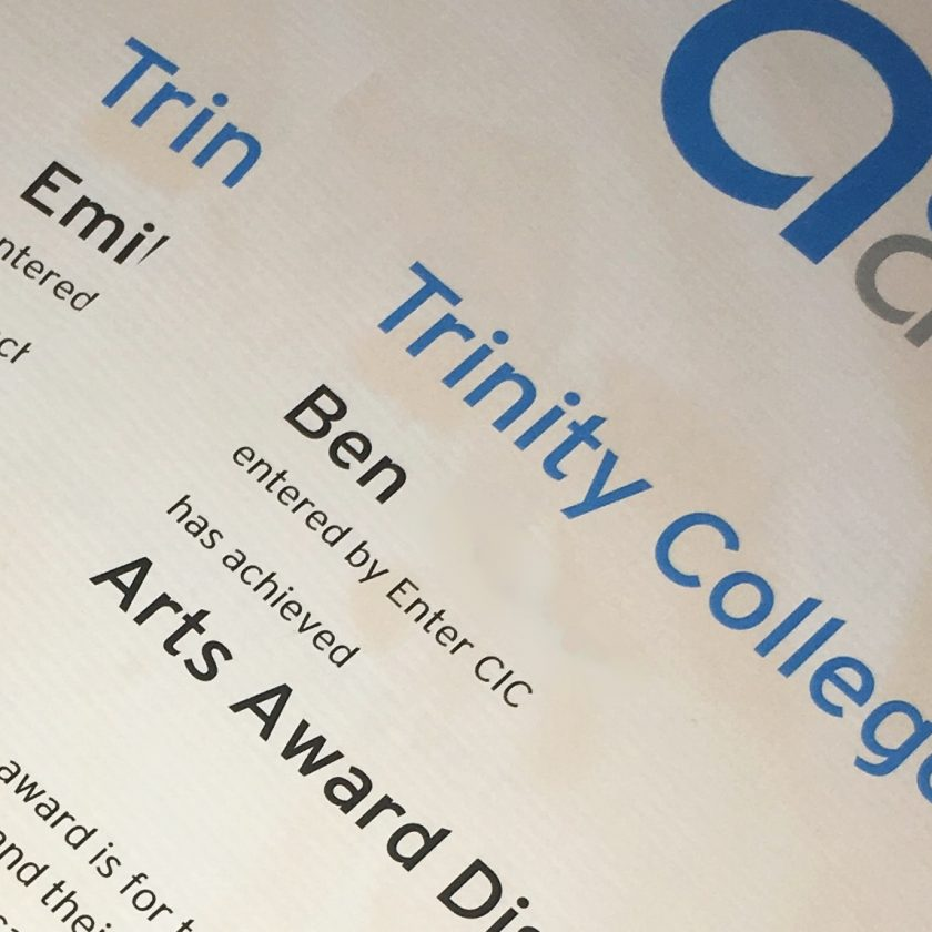 132 Young people achieve Arts Awards with Enter CIC!